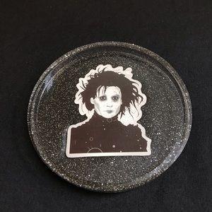 Edward Scissorhands round tray/decor.